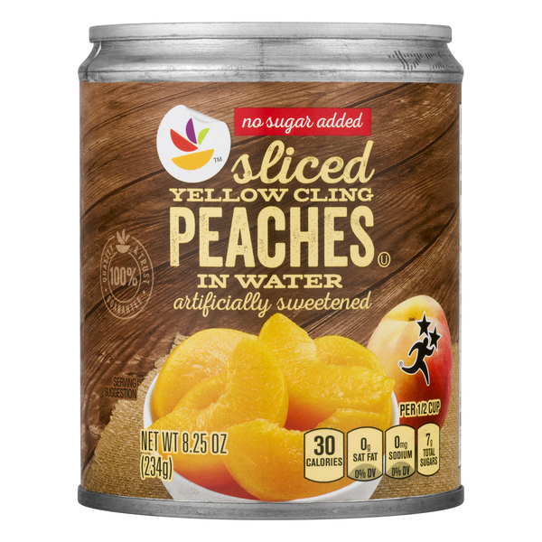 MARTIN'S Peaches In Water Artificially Sweetened No Sugar Added