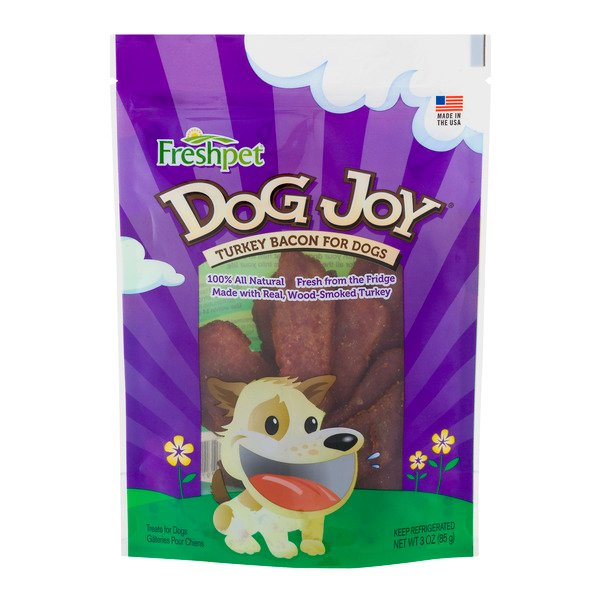 Freshpet Dog Joy Refrigerated Dog Treats Turkey Bacon 100% Natural
