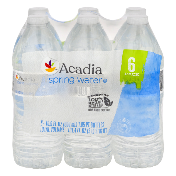 GIANT Acadia Spring Water Natural - 6 pk