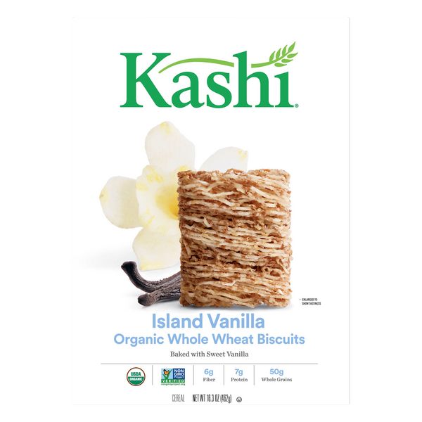 Kashi Whole Wheat Biscuits Cereal Island Vanilla Organic
