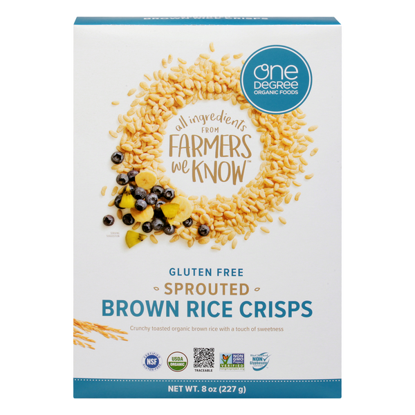 One Degree Organic Foods Brown Rice Crisps Sprouted