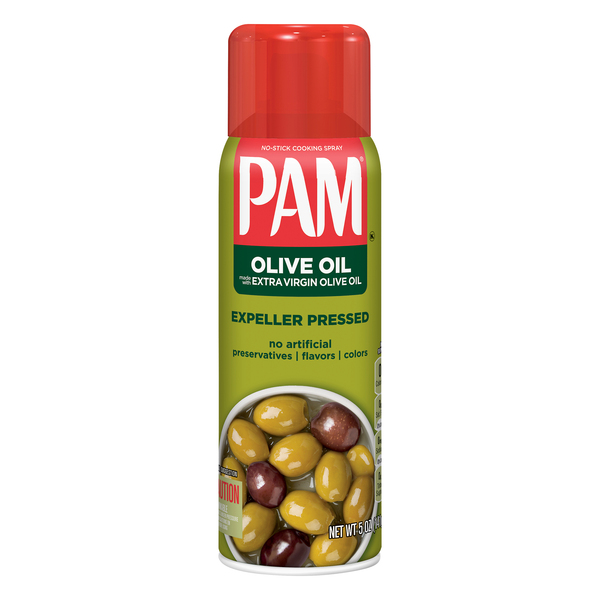 Pam No-Stick Cooking Spray Olive Oil Extra Virgin Expeller Pressed