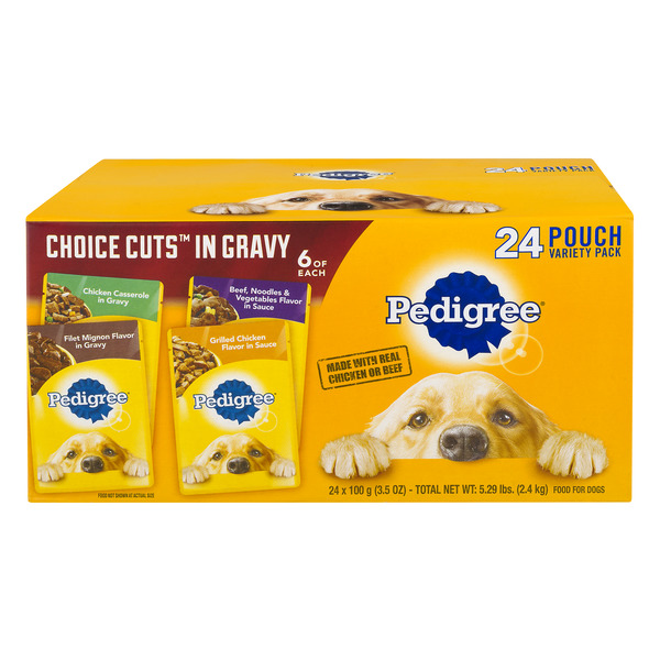 Pedigree Choice Cuts In Gravy Wet Dog Food Chicken & Beef Variety - 24 ct