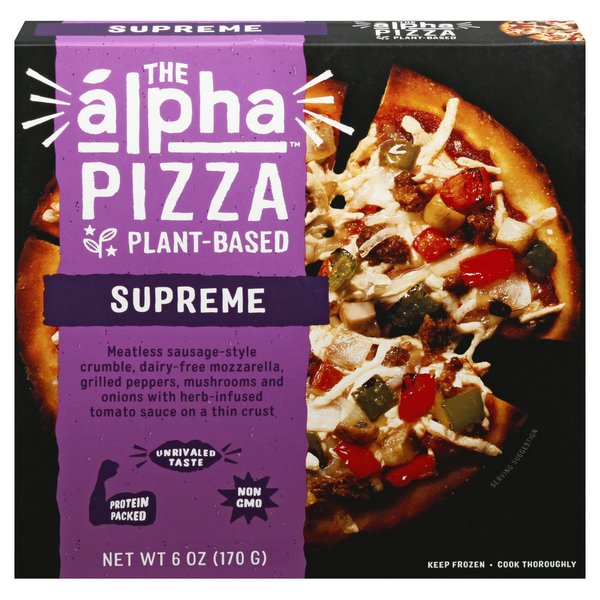 Alpha Foods Personal Pizza Sausage Supreme Plant Based