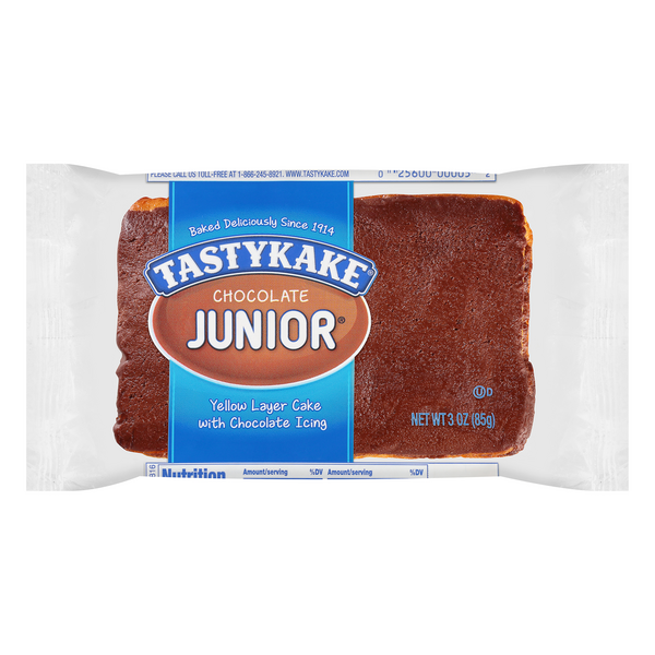 Tastykake Junior Yellow Layer Cake Chocolate