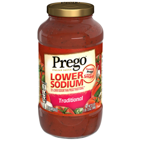 Prego Italian Sauce Traditional Lower Sodium