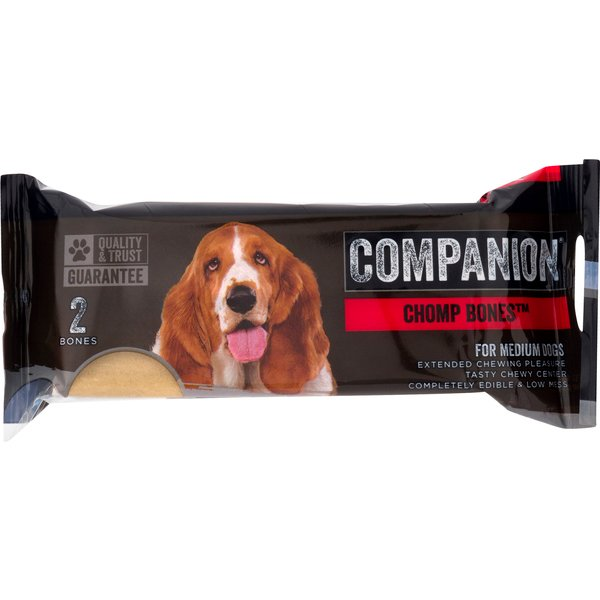 Companion Chomp Bones for Medium Dogs - 2 ct