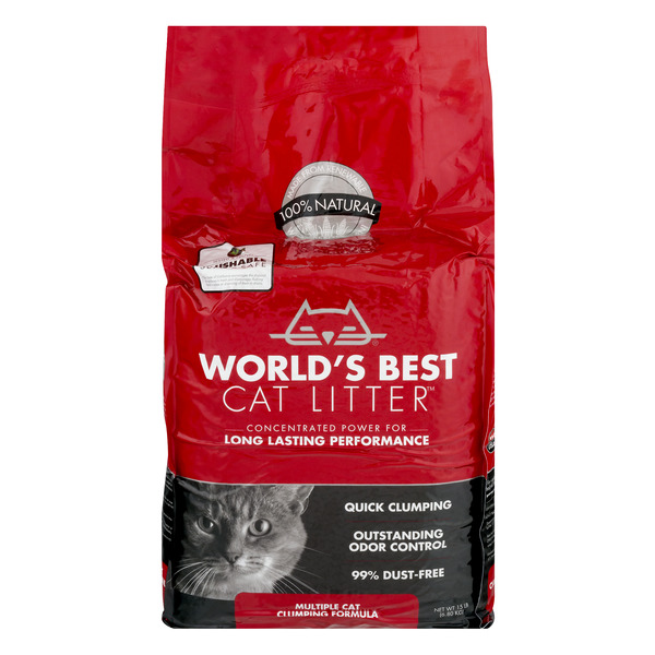 World's Best Clumping Formula Cat Litter Multiple Cats 100% Natural