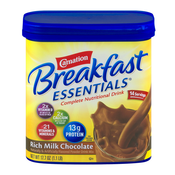 Carnation Breakfast Essentials Nutritional Drink Mix Rich Milk Chocolate