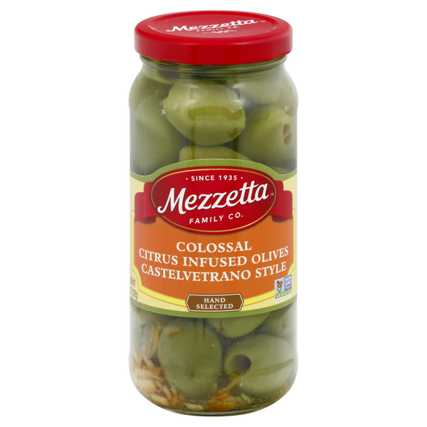 Mezzetta Colossal Castelvetrano Style Olives Citrus Infused