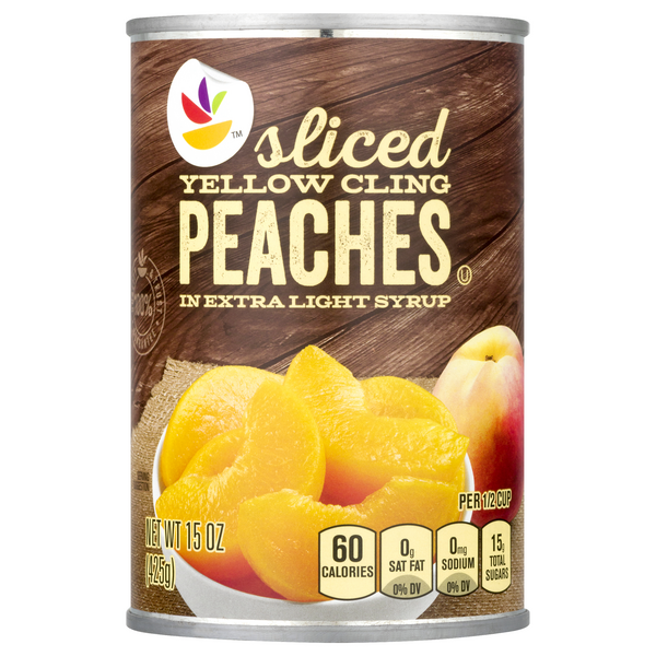 MARTIN'S Peaches Yellow Cling Sliced in Extra Light Syrup