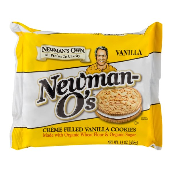 Newman's Own Newman-O's Sandwich Cookies Creme Filled Vanilla Organic