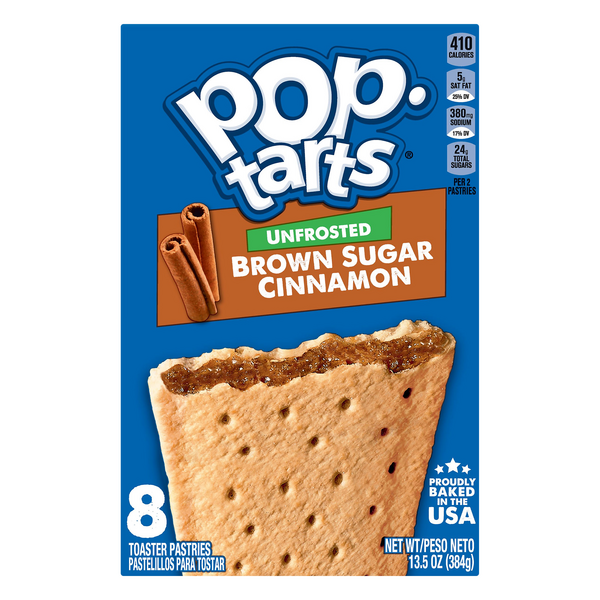 Pop-Tarts Toaster Pastries Unfrosted Brown Sugar Cinnamon - 8 ct