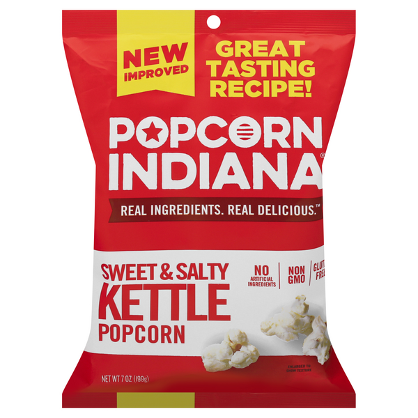 Popcorn, Indiana Kettlecorn Popcorn All Natural