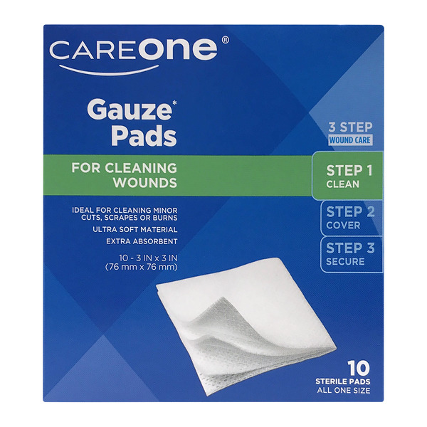 CareOne Gauze Pads for Cleaning Wounds