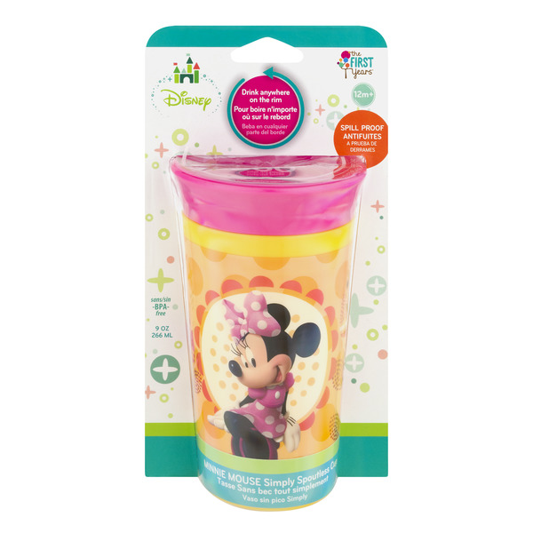 The First Years Simply Spoutless Cup Minnie Mouse 12+ Month 9 oz