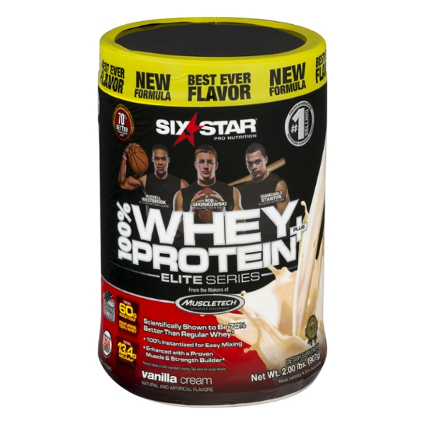 Six Star Elite Series Whey Protein Vanilla Cream