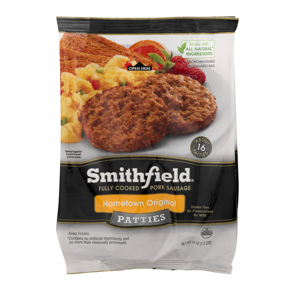 Smithfield Pork Sausage Patties Hometown Original