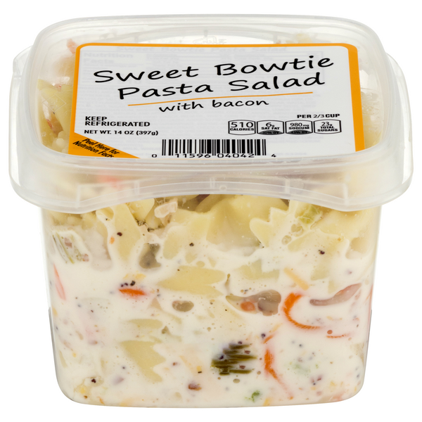 Store Brand Pasta Salad Sweet Bowtie with Bacon