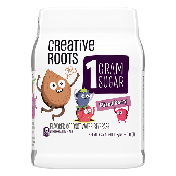 Creative Roots Coconut Water Beverage Mixed Berry - 4 pk