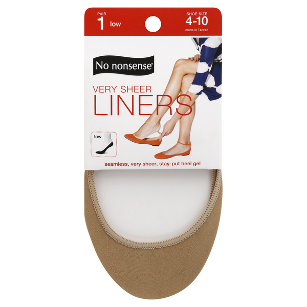 No nonsense Very Sheer Liners Low Size 4-10