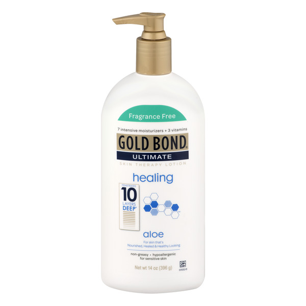 Gold Bond Ultimate Skin Therapy Lotion Healing With Aloe Fragrance Free