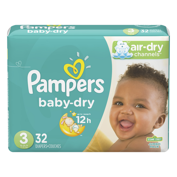 Pampers Baby Dry Size 3 Diapers 16-28 lbs