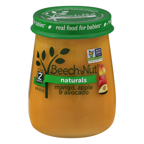 Beech-Nut Naturals Stage 2 Baby Food Mango Apple & Avocado