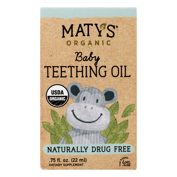 Maty's Baby Teething Oil Organic Naturally Drug Free