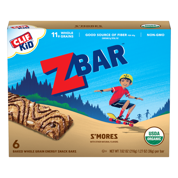 Clif Kid Zbar Energy Snack S'mores Organic - 6 ct