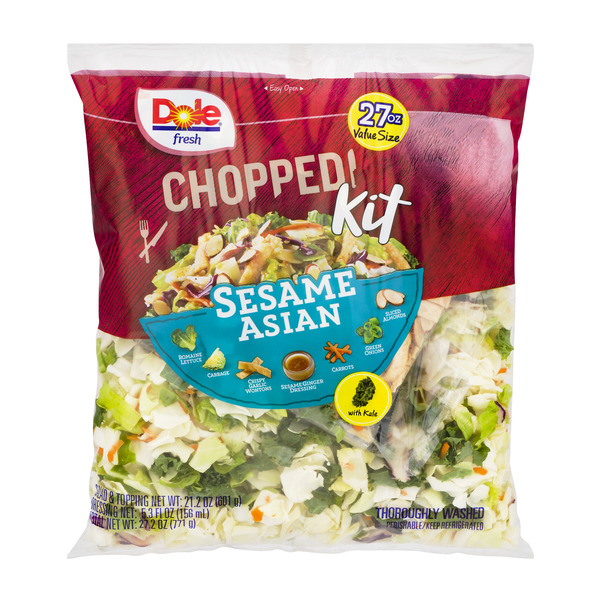 Dole Chopped Salad Kit Sesame Asian Family Size