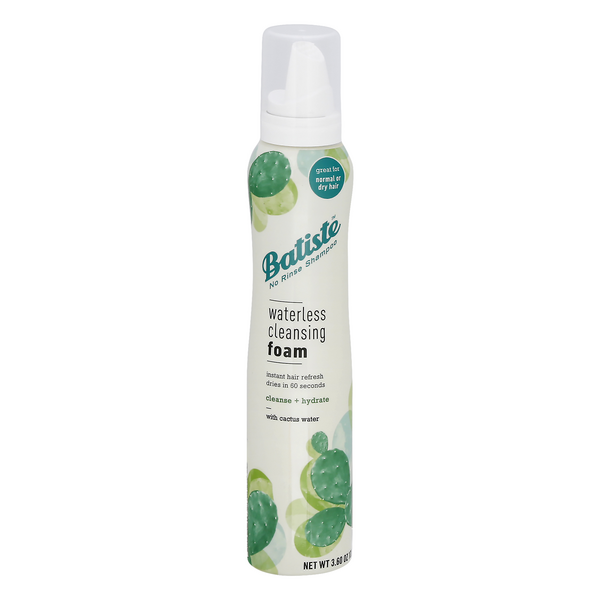 Batiste Waterless Cleansing Foam Cleanse + Hydrate with Cactus Water