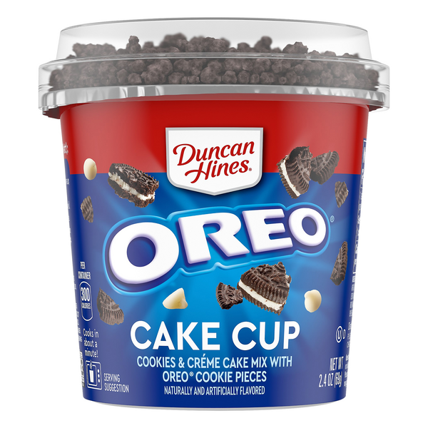 Duncan Hines Perfect Size for 1 Cookies & Cream Cake Mix w/ Oreo Cookies
