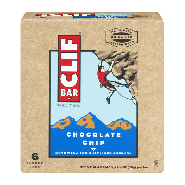 Clif Energy Bar Chocolate Chip - 6 ct