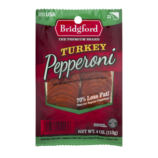 Bridgford Pepperoni Turkey Sliced