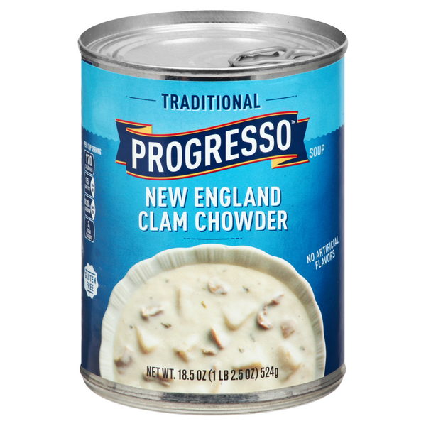 Progresso Traditional New England Clam Chowder Soup Gluten Free