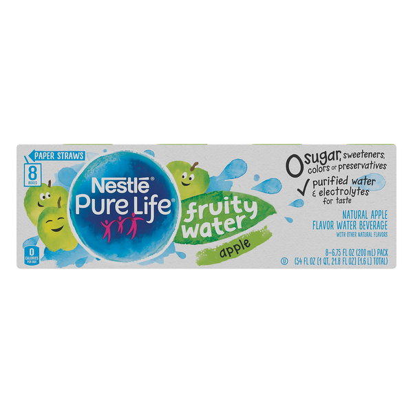 Nestle Pure Life Fruity Water Apple - 8 pk