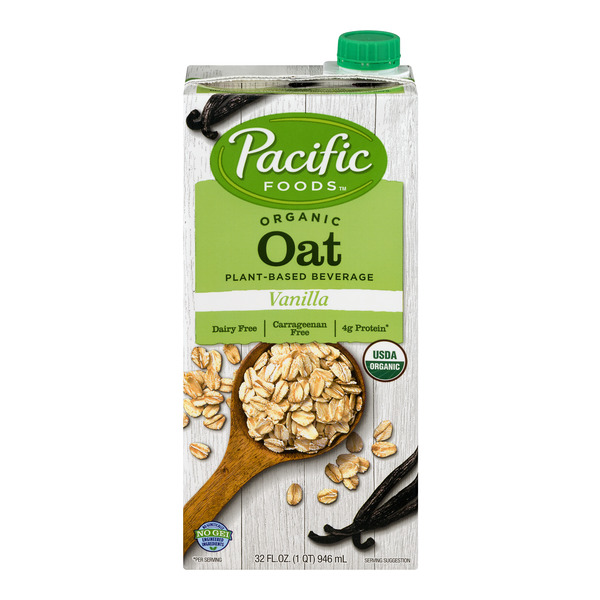 Pacific Foods Vanilla Oat Beverage Plant Based Organic