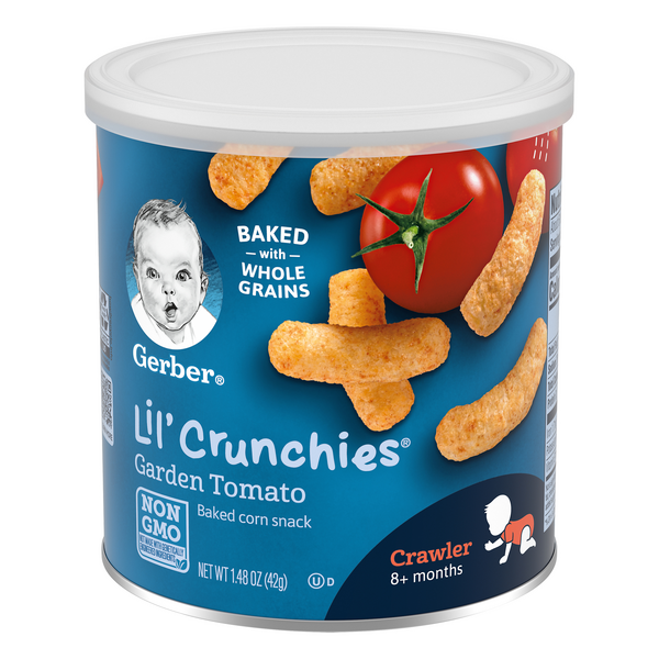 Gerber Lil' Crunchies Baked Corn Snack Garden Tomato