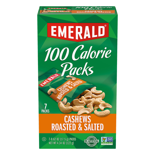 Emerald 100 Calorie Packs Cashews Roasted & Salted - 7 ct