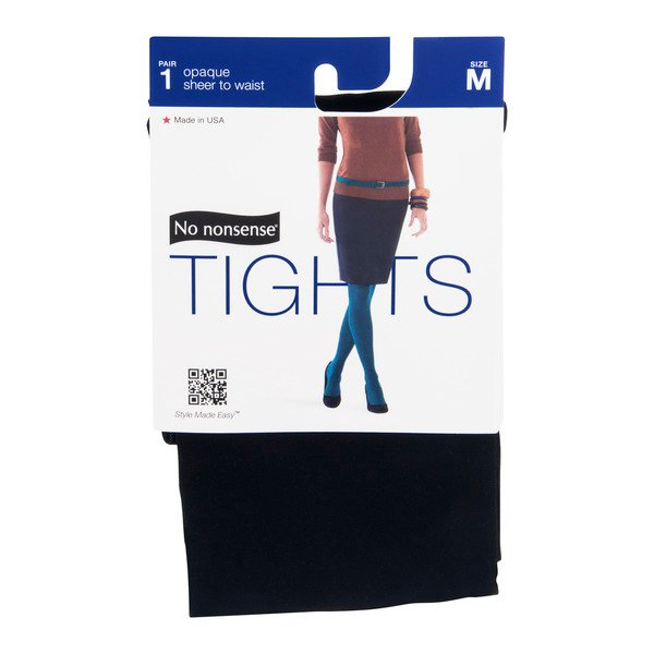 No nonsense Tights Opaque sheer to waist Size Medium Black