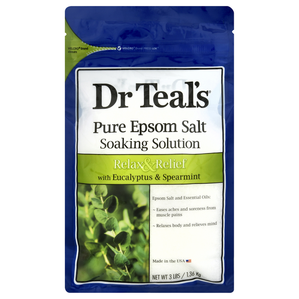 Dr. Teal's Pure Epsom Salt Relax & Relief with Eucalyptus & Spearmint