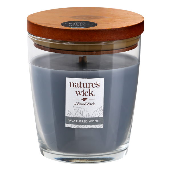 Nature's Wick Scented Candle Weathered Wood