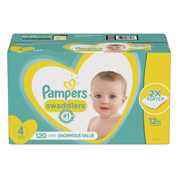 Pampers Swaddlers Size 4 Diapers 22-37 lbs