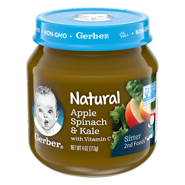Gerber 2nd Baby Food Apple Spinach & Kale Natural