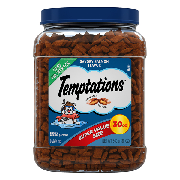 Temptations Cat Treats Savory Salmon Flavor