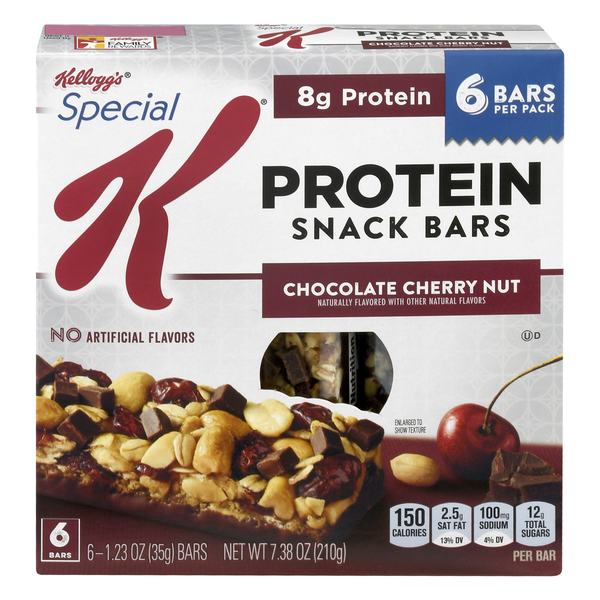 Kellogg's Special K Protein Snack Bar Chocolate Cherry Nut - 6 ct