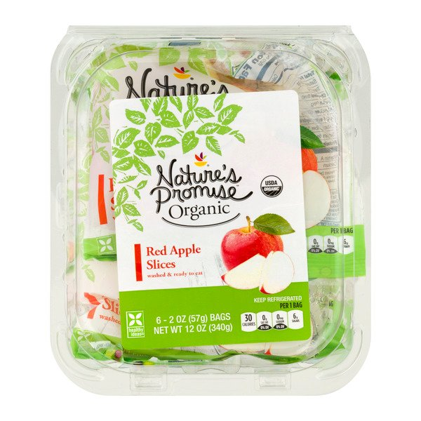 Nature's Promise Organic Apple Red Slices - 6 ct