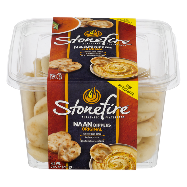 Stonefire Authentic Flatbreads NAAN Dippers Original