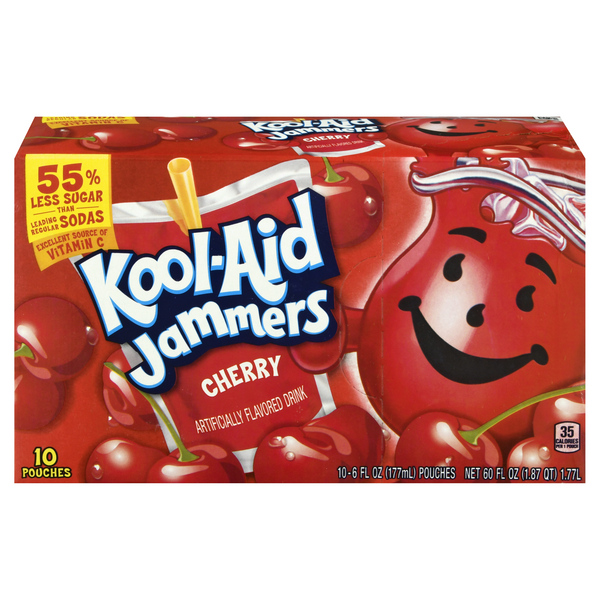 Kool-Aid Jammers Juice Pouches Cherry Flavored - 10 pk